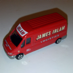 CORGI James Irlam logistics lwb ford transit small juniors scale
